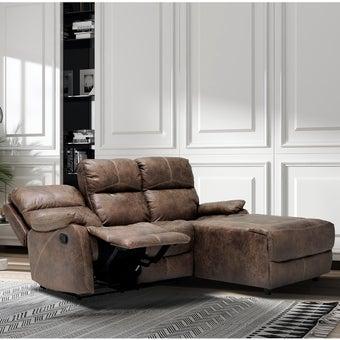 เก้าอี้พักผ่อนผ้าลายหนังเข้ามุมขวา รุ่น Masko สีน้ำตาล-01