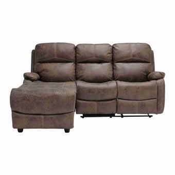 เก้าอี้พักผ่อนผ้า เก้าอี้พักผ่อนเข้ามุม รุ่น Masko สีสีน้ำตาล-SB Design Square