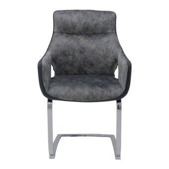 เก้าอี้ทานอาหาร เก้าอี้ไม้เบาะผ้า รุ่น Yakka สีสีเทา-SB Design Square
