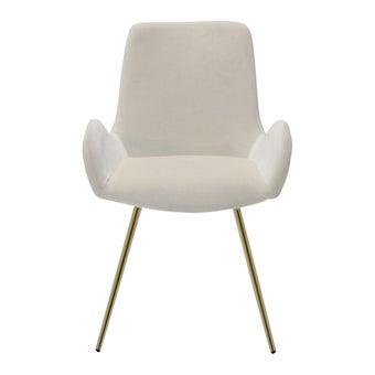 เก้าอี้ทานอาหาร เก้าอี้ไม้เบาะผ้า รุ่น Youto สีสีครีม-SB Design Square