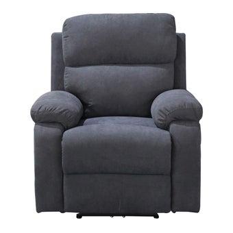 เก้าอี้พักผ่อนผ้า เก้าอี้พักผ่อนปรับระดับไฟฟ้า 1 ที่นั่ง รุ่น Lenef สีสีดำ-SB Design Square