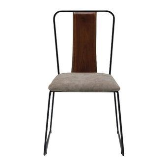 เก้าอี้ทานอาหาร เก้าอี้เหล็กเบาะผ้า รุ่น Fer-SB Design Square
