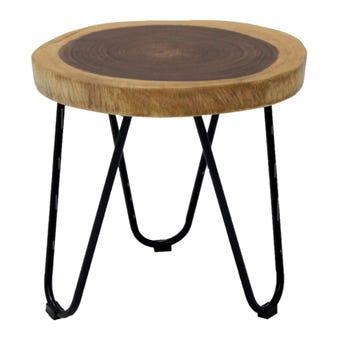 เก้าอี้ทานอาหาร เก้าอี้เหล็กเบาะไม้ รุ่น Ferric สีสีลายไม้ธรรมชาติ-SB Design Square