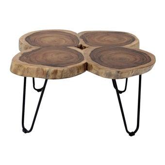 โต๊ะกลาง โต๊ะกลางเหล็กท๊อปไม้ รุ่น Ferrero-SB Design Square