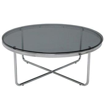 โต๊ะกลางLACCATE/โครเมี่ยม/กระจกเทา***-01