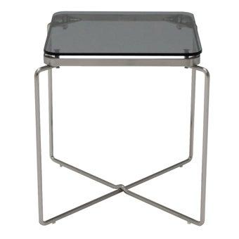 โต๊ะข้างJOINER/โครเมียม/กระจกเทา