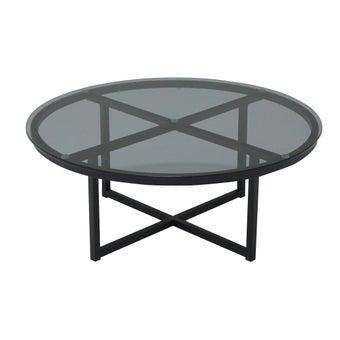 โต๊ะกลางJERA-C80/ขาดำ/กระจกเทา-01