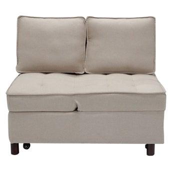 โซฟาผ้า 2 ที่นั่ง Feather สีครีม-01