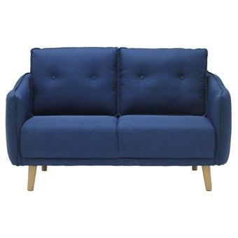 โซฟาผ้า 2 ที่นั่ง Logan#2 สีน้ำเงิน