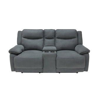 เก้าอี้พักผ่อนผ้า 2 ที่นั่ง รุ่น Maden สีเทาเข้ม-01