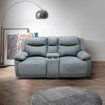 เก้าอี้พักผ่อนผ้า 2 ที่นั่ง รุ่น Maden สีเทาเข้ม 09