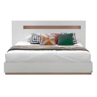 เตียงนอน ขนาด 5 ฟุต รุ่น Luminus สีขาว 07