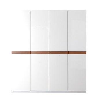 ตู้เสื้อผ้า ขนาด 200 ซม. รุ่น Luminus สีขาว 09