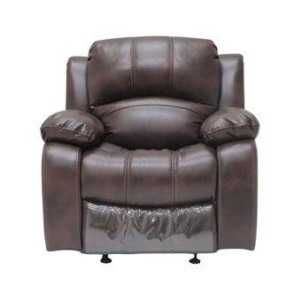 เก้าอี้พักผ่อนผ้าลายหนัง 1 ที่นั่ง รุ่น Multi สีน้ำตาลเข้ม-00