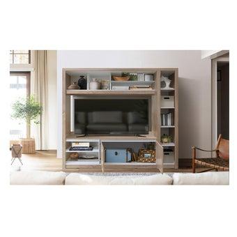 ชุดวางทีวีและตู้โชว์ ขนาด 180 ซม. รุ่นVola แบรนด์  Koncept Smart สีไม้อ่อน01