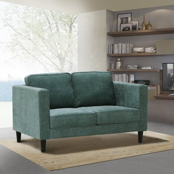 โซฟาผ้า 2 ที่นั่ง Leroy สีเขียว