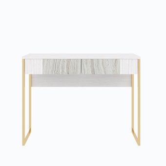 โต๊ะเครื่องแป้ง ขนาด 100 ซม. รุ่น Ezra สีขาว-01
