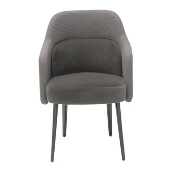 เก้าอี้ผ้ากำมะหยี่ รุ่น Nerrex สีน้ำตาลเข้ม01