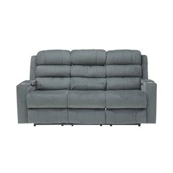 เก้าอี้พักผ่อนผ้ากำมะหยี่ รุ่น Zachary สีเทา-00