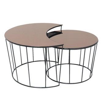 โต๊ะกลาง รุ่น A-Sunmoon สีน้ำตาล1