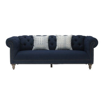 โซฟาผ้า 3 ที่นั่ง  Pimtha สีฟ้า