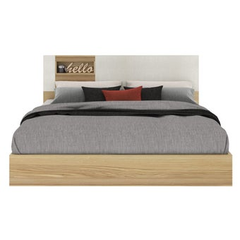 เตียงนอน ขนาด 6 ฟุต รุ่น Nikko สีโอ๊ค1