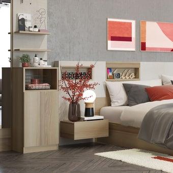 ตู้ข้างเตียง รุ่น Nikko สีโอ๊ค2