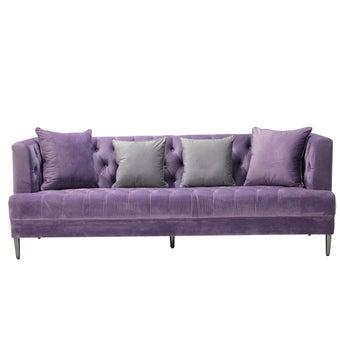 โซฟาผ้ากำมะหยี่ 3 ที่นั่ง รุ่น Traelyn สีม่วง