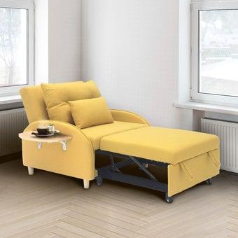 โซฟาเบดผ้า Covida สีเหลือง