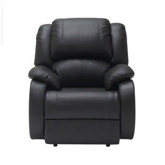 เก้าอี้พักผ่อนหนังแท้ ขนาด 1 ที่นั่ง รุ่น Tott สีน้ำตาลเข้ม1