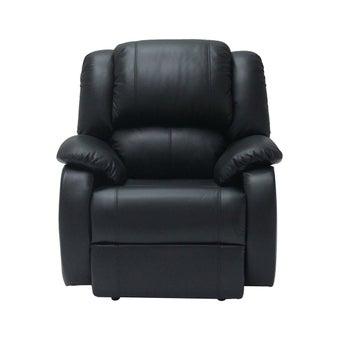 เก้าอี้พักผ่อนหนังแท้ ขนาด 1 ที่นั่ง รุ่น Tott สีดำ1