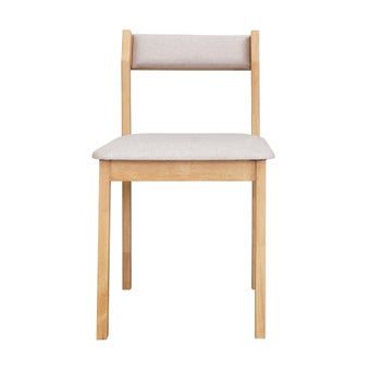 เก้าอี้ไม้ยาง รุ่น Comdio เบาะสีน้ำตาลอ่อน