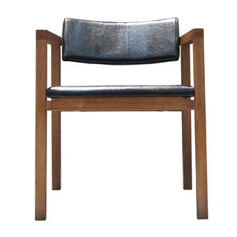 เก้าอี้ไม้ยาง รุ่น Taste เบาะหนัง