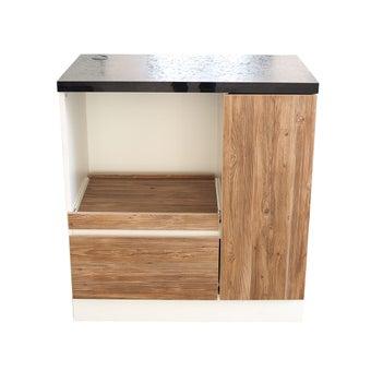 ห้องครัวขนาดกะทัดรัดและครัวสำเร็จรูป ขนาด 80 ซม. รุ่น Pazia สีน้ำตาล