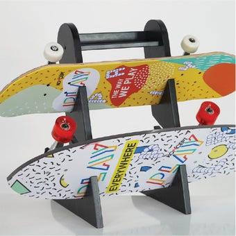 ชั้นวาง Surf Skate & Skate Board สีดำ-11