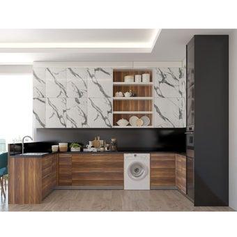 ชุดครัวบิลท์อิน ท็อปหินควอทซ์ Stone Italiana (Set5)