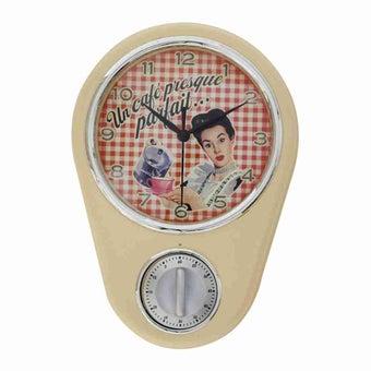 นาฬิกา นาฬิกาแขวนผนัง สีสีขาว-SB Design Square
