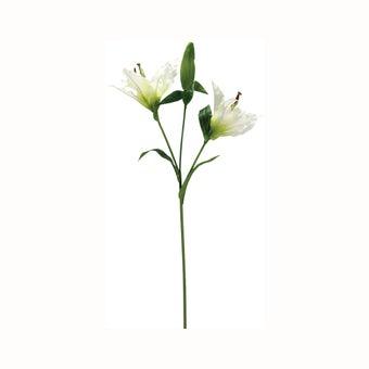 ดอกไม้ปลอม#EY-J2921 ผ้า สีขาว/JF-00