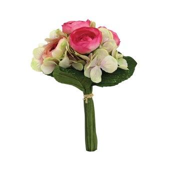 ดอกไม้ประดิษฐ์1ช่อหลายดอก ผ้า หลากสี/LJ