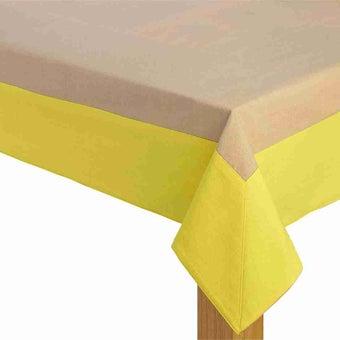 ผ้าปูโต๊ะ Delice สีครีม-เหลือง