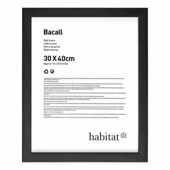 กรอบรูปไม้ Bacall สีดำ 30x40cm