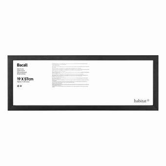 กรอบรูปไม้ Bacall สีดำ 19x57cm