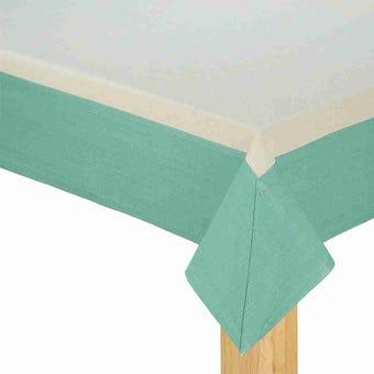 ผ้าปูโต๊ะ Delice สีครีม-เขียว