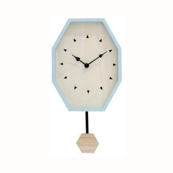 นาฬิกาแขวนผนัง#GM158-15C0102 ไม้ สีฟ้า/CN-00