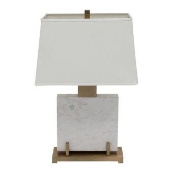 โคมไฟ โคมไฟตั้งโต๊ะ รุ่น Modern Luxury สีสีขาว-SB Design Square