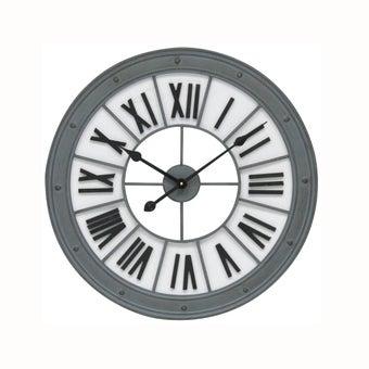 นาฬิกาแขวนผนัง#7Q301/MDF โลหะ สีเทา/MDY
