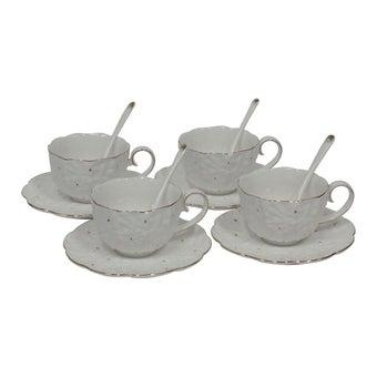 ชุดกาแฟ#NHTC1095-WG เซรามิก สีขาว/WL Set of 12