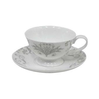 ถ้วยชา+จาน#3599648 โบนไชน่า สีเทา-00