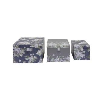 กล่องอเนกประสงค์#3704335 ลายดอกม่วง Set of 3-00