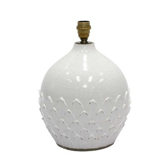 ฐานโคมไฟ#3603215 เซรามิก ขาว